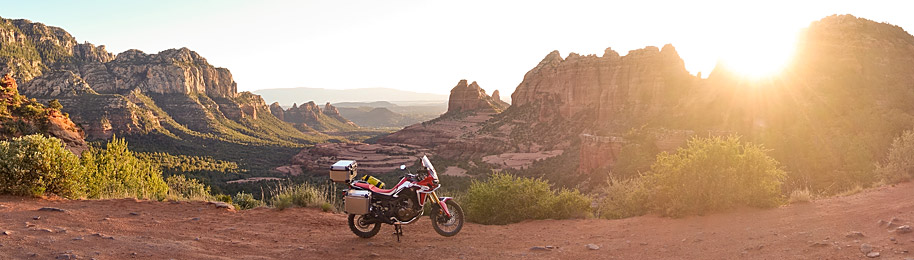Africa Twin CRF1000L Arizona Sunset