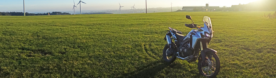 Africa Twin CRF1000L Produkt testing in Germany